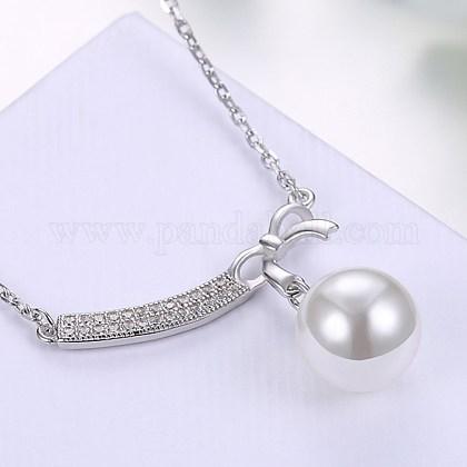 Collares pendientes de la plata esterlina lindaNJEW-BB29108-1