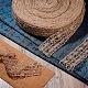 Hilo de soutache de cuerda de cáñamo tejido a mano para decoración.OCOR-WH0031-C01-5