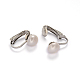 304 Stainless Steel Freshwater Pearl Clip-on EarringsEJEW-M188-08A-1