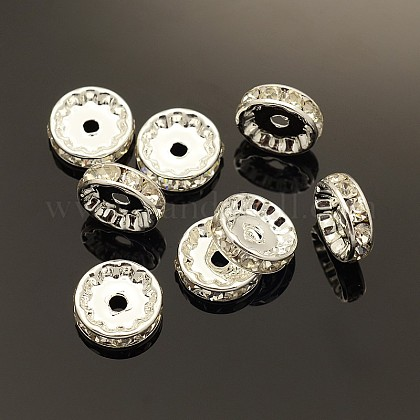 Brass Rhinestone Spacer Beads X-RB-A014-Z12mm-01S-NF-1