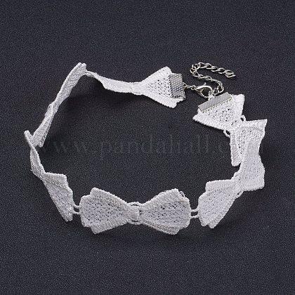 Collares gargantilla de tela góticaNJEW-E085-22A-1