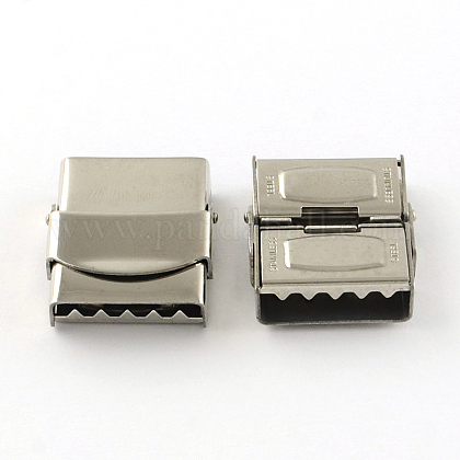 Smooth Surface 201 Stainless Steel Watch Band Clasps STAS-R063-83-1