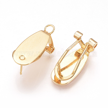 Brass Stud Earring FindingsKK-Q735-141G-1