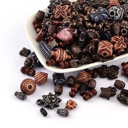 Mixed Antique Style Acrylic Beads/PendantsMACR-R546-04-1