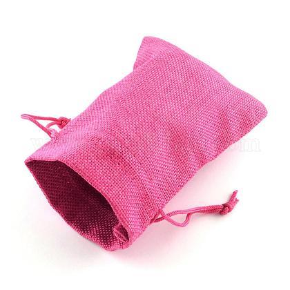 黄麻布ラッピングポーチ巾着袋ABAG-R005-9x7-M-1