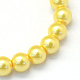 Baking Painted Pearlized Glass Pearl Round Bead StrandsHY-Q003-14mm-67-2