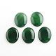 Природный зеленый агат драгоценный камень кабошоныG-R270-14-1