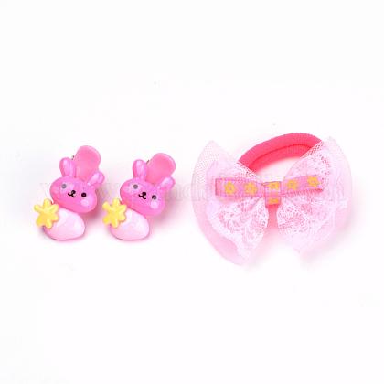 Juegos de accesorios para el cabello de conejito encantador para niñosOHAR-S193-05-1