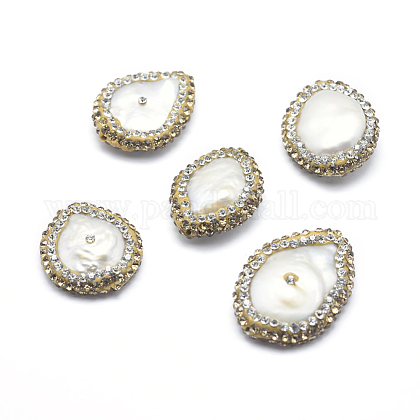 Perlas naturales abalorios de agua dulce cultivadasRB-A062-004-1