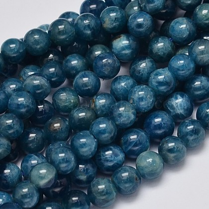 Round Natural Apatite Beads Strands G-K068-04-6mm-1