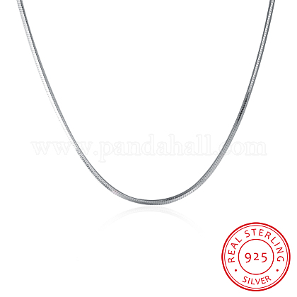 925 Sterling Silver Snake Chain Necklaces NJEW-BB19822-1-1