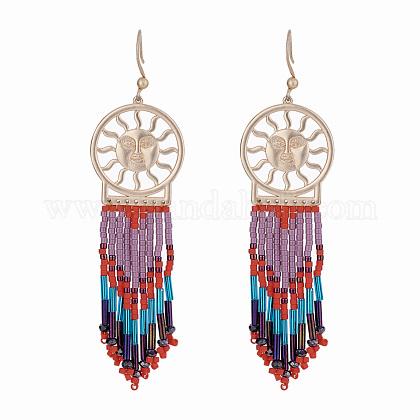 CRAFTDADY® Seed Beads Dangle EarringsEJEW-CD0001-04-1