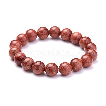 SUNNYCLUE® Synthetic Goldstone Round Beads Stretch BraceletsBJEW-PH0001-10mm-06-1