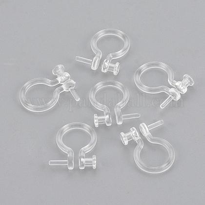 Plastic Clip-on Earring FindingsKY-S155-05-1