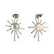 304 Stainless Steel Dangle Ear Studs EJEW-G261-01-3