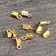 Extremos de cable de plata de ley chapados en oro de 18k realH160B-G-2