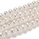 Perlas naturales abalorios de agua dulce cultivadasPEAR-D053-1-5