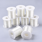 Round Elastic Crystal Thread, Stretchy Bracelet String, Clear, 0.8mm; about 120m/roll