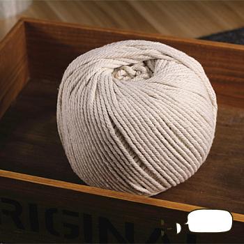 Fil de coton pour la fabrication de bijoux, cordon en macramé, papayawhip, 3 mm; environ 200 m/rouleau
