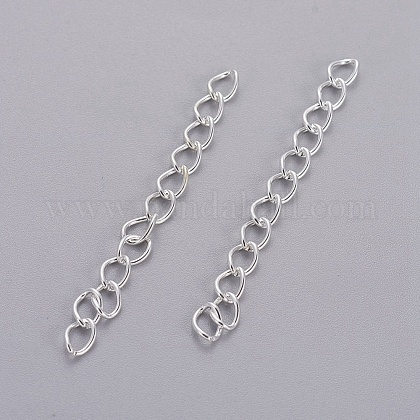 Iron Ends with Twist Chain Extension for Necklace Anklet Bracelet CH-CH017-S-5cm-1