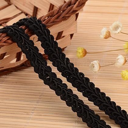 Lace Trim Nylon Ribbon for Jewelry MakingORIB-L005-56-1
