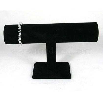 Black Velvet Bracelet T Bar DisplayX-S009-1
