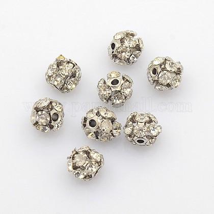 Abalorios de Diamante de imitación de latónRB-A019-6mm-01P-1