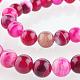 Chapelets de perles rondes en pierre d'agate naturelleG-E233-05-1