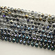 Perlas de vidrio rondelle facetado electrochapadoEGLA-S096-8mm-M-1