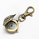 Accesorios de llavero retro reloj de cuarzo de aleación de búho para llaveroWACH-R009-005AB-3