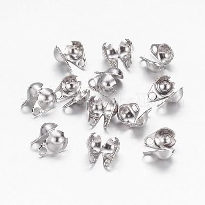 304 Stainless Steel Bead TipsX-STAS-E129-01P-1