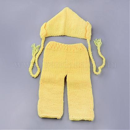 かぎ針編みのベビービーニーコスチュームAJEW-R030-75-1