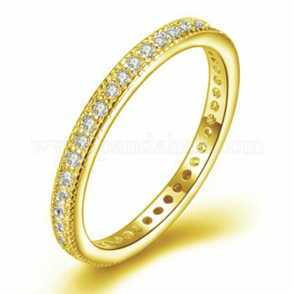 Micro Pave Cubic Zirconia Rings RJEW-BB35163-G-9-1
