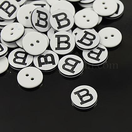 Plastic ButtonsX-BUTT-A010-20L-B-1