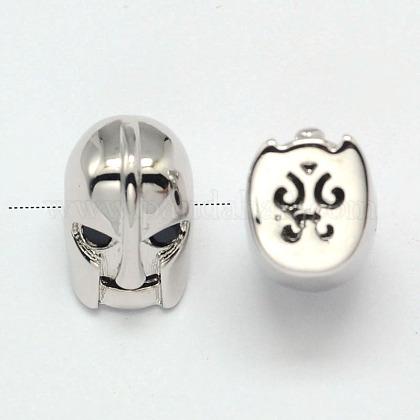 Abalorios máscara de latónZIRC-F018-20P-1