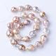 Hebras de perlas keshi de perlas barrocas naturalesPEAR-S010-34-2