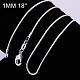 Brass Round Snake Chain Fine Necklace MakingNJEW-BB10854-18-1