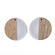 Colgantes de resina y madera de nogalRESI-T023-15A-2