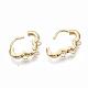 Brass Huggie Hoop Earring FindingsX-KK-T051-39G-NF-2