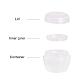 Tarro de crema de hongos portátil de plástico de 50g ppMRMJ-BC0001-39-3