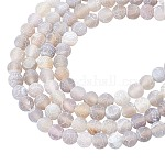 ARRICRAFT Natural & Dyed Crackle Agate Bead Strands, Frosted Style, Round, 8mm, Hole: 1mm, about 47pcs/strand, 15.5 inches(39.5cm), 4strands/box