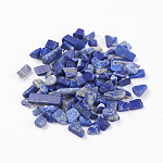 天然石ラピスラズリビーズ, 穴なし/ドリルなし, チップ, 5~8x2~5ミリ。約50グラム/袋