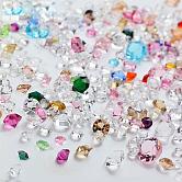 Accesorios de decoración de uñas de cristal rhinestone, diamante, color mezclado, 9x5.5cm; alrededor de 10 g / bolsa