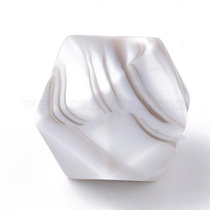Abalorios de silicona ambiental de grado alimenticioX-SIL-T048-17mm-69-1