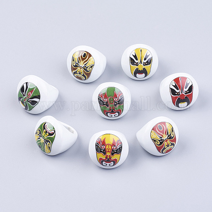 Anillos de porcelana hechas a manoRJEW-16D-1-1
