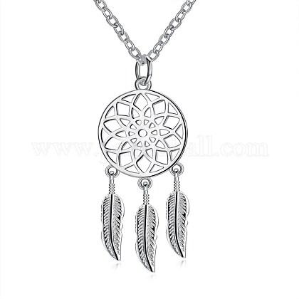 Fashion Brass Pendant NecklacesNJEW-BB26556-1