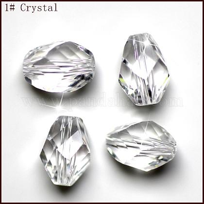 Imitation Austrian Crystal BeadsSWAR-F077-13x10mm-01-1