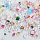 Glass Rhinestone Nail Art Decoration Accessories, Diamond, Mixed Color, 9x5.5cm; about 10g/bag