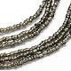 Glass Bead Lariat NecklacesX-NJEW-O059-04K-5