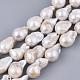 Hebras de perlas keshi de perlas barrocas naturalesPEAR-Q015-016-1